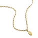ela rae lara stamped chain marquise charm necklace white zircon 14k yellow gold plate