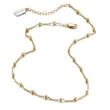 ela rae lina ball chain necklace 14k yellow gold plate