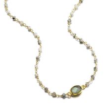 Load image into Gallery viewer, ela rae libi choker necklace dendrite opal labradorite 14k yellow gold plate