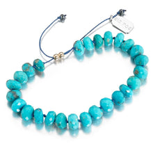 Load image into Gallery viewer, ela rae diana knots luxe bracelet turquoise silk