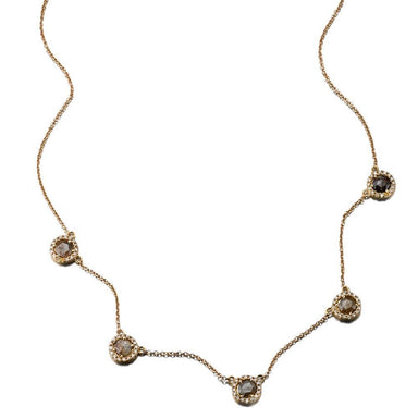 ela rae callie diamond necklace 14k yellow gold