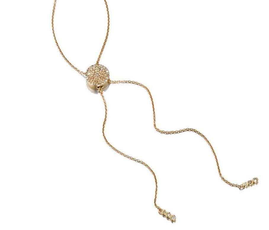 ela rae bailey bolo lariat diamond 14k yellow gold
