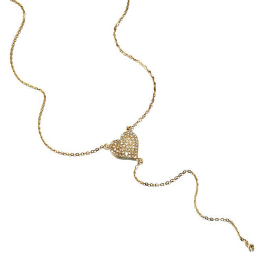 ela rae harley lariat heart necklace diamond 14k yellow gold