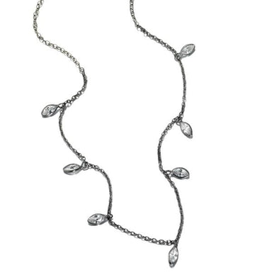 ela rae callie cz necklace cubic zirconia sterling silver