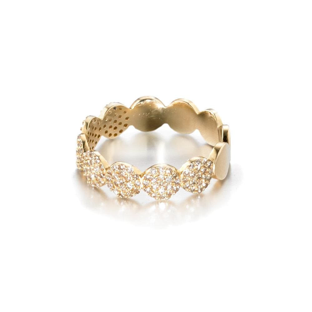 ela rae dina luxe ring diamond 14k yellow gold