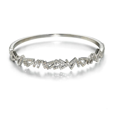 ela rae benji diamond bangle sterling silver