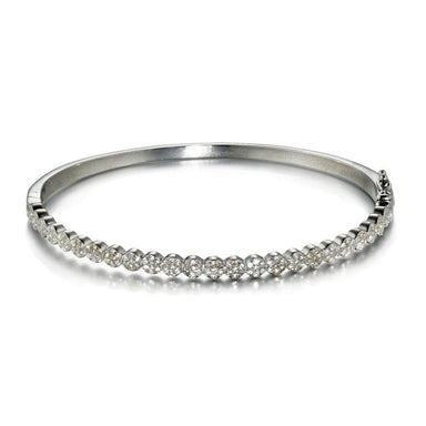 ela rae dina luxe bangle diamond sterling silver