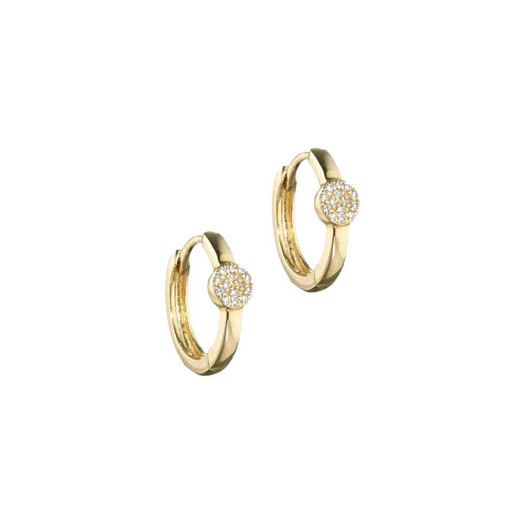 ela rae dina luxe huggies diamond 14k yellow gold