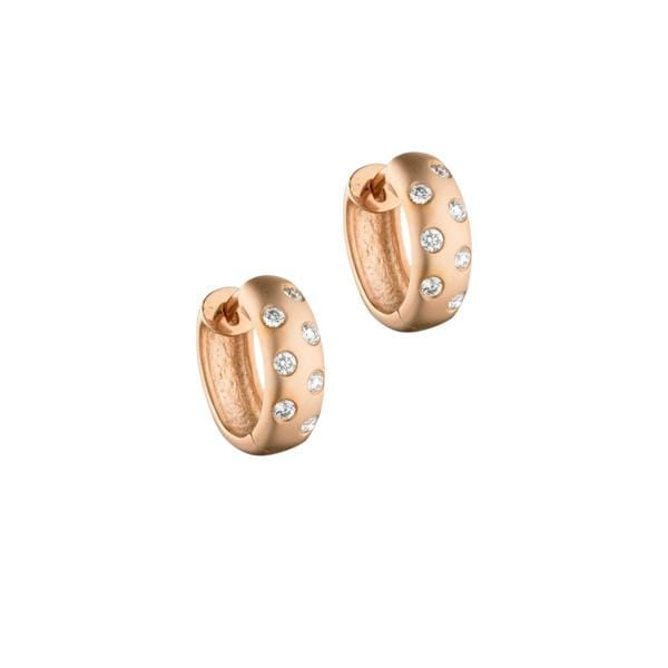 ela rae jessa matte diamond huggies 14k rose gold