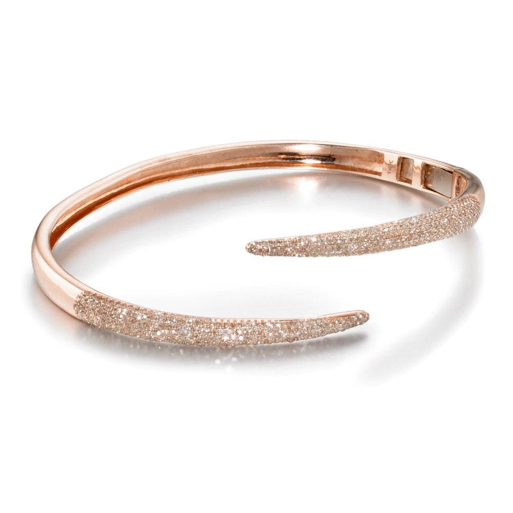ela rae claudine claw bracelet diamond 14k rose gold