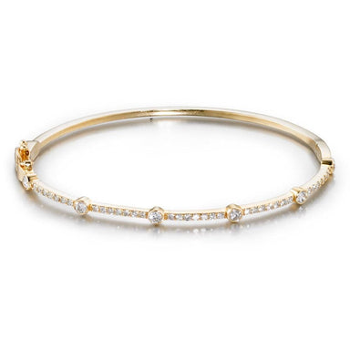 ela rae diana satellite bangle diamond 14k yellow gold