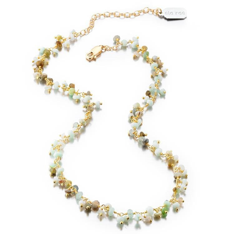 ela rae libi shaker peruvian opal necklace 14k yellow gold plate