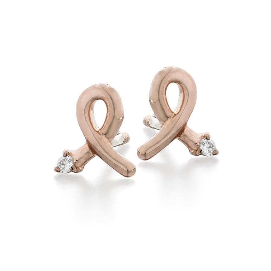 ela rae kim philanthropic studs diamond 14k rose gold