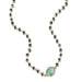 ela rae libi choker necklace hematite emerald 14k yellow gold plate