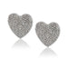 ela rae large diamond pave heart studs sterling silver