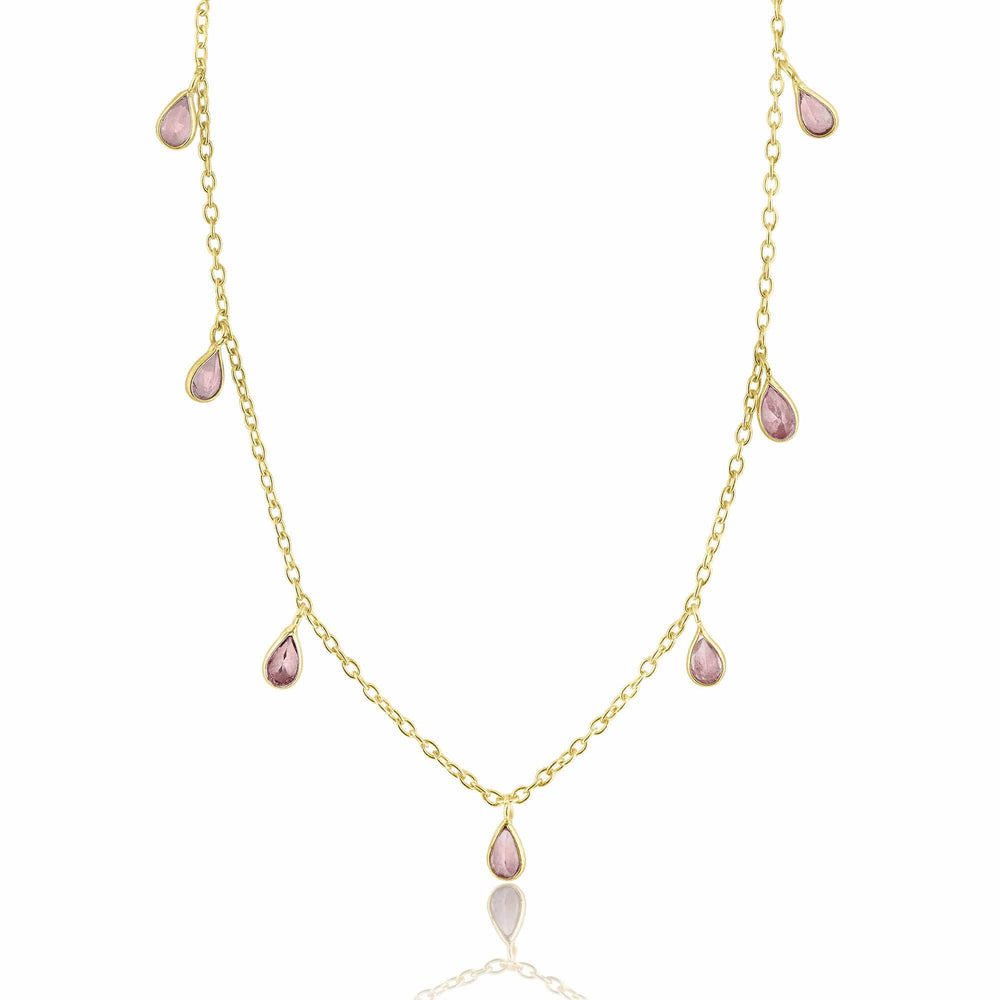 ela rae callie pears tourmaline 14k yellow gold plate