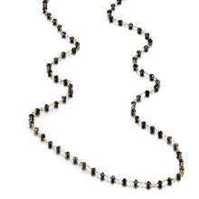 Load image into Gallery viewer, ela rae diana rondelle necklace mystic black spinel 14k yellow gold plate