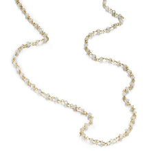 Load image into Gallery viewer, ela rae diana rondelle necklace rainbow moonstone 14k yellow gold plate
