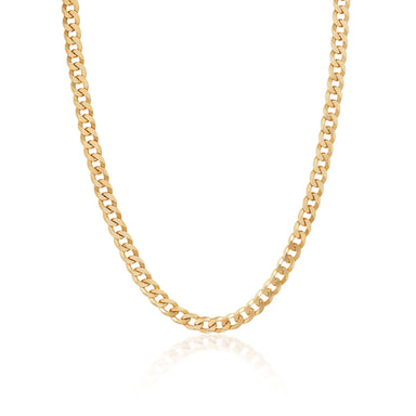 ela rae curb chain 14k yellow gold plate