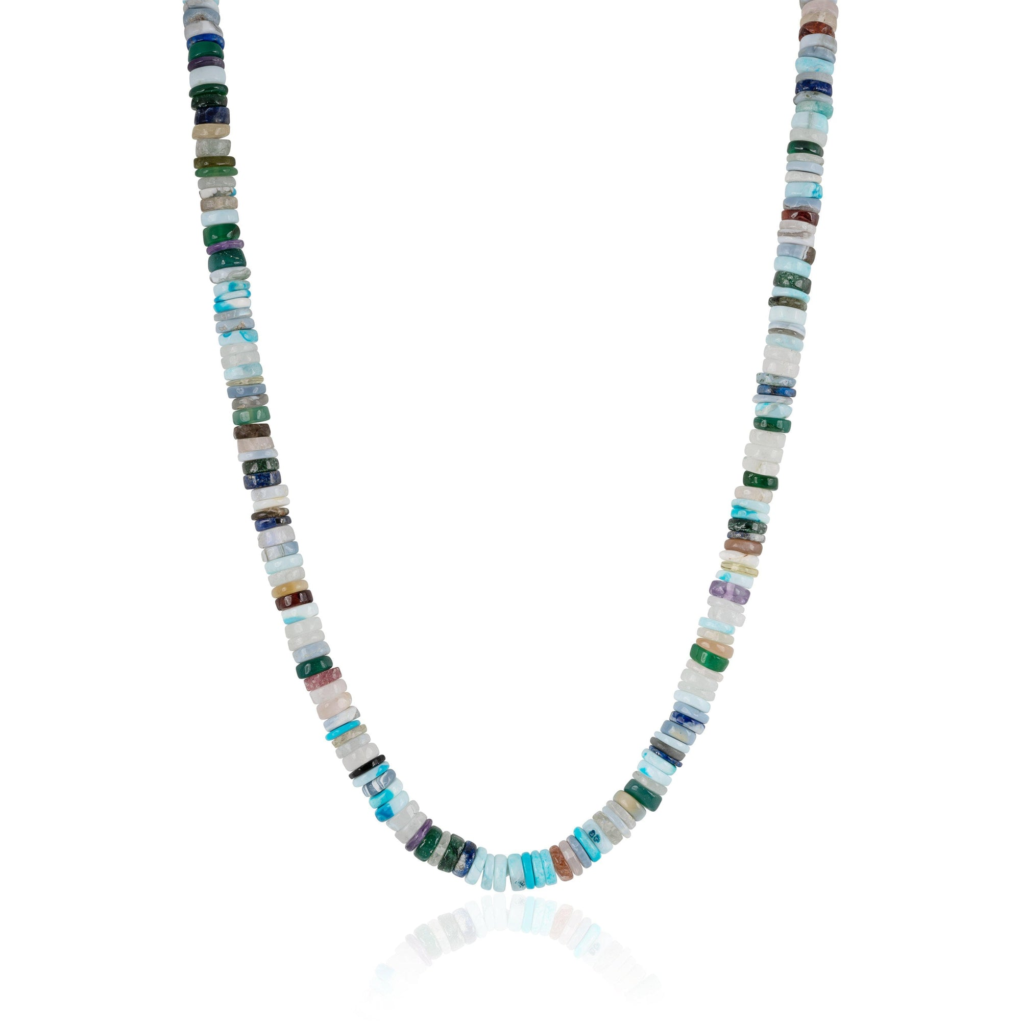Mixed Gemstone Candy Necklace