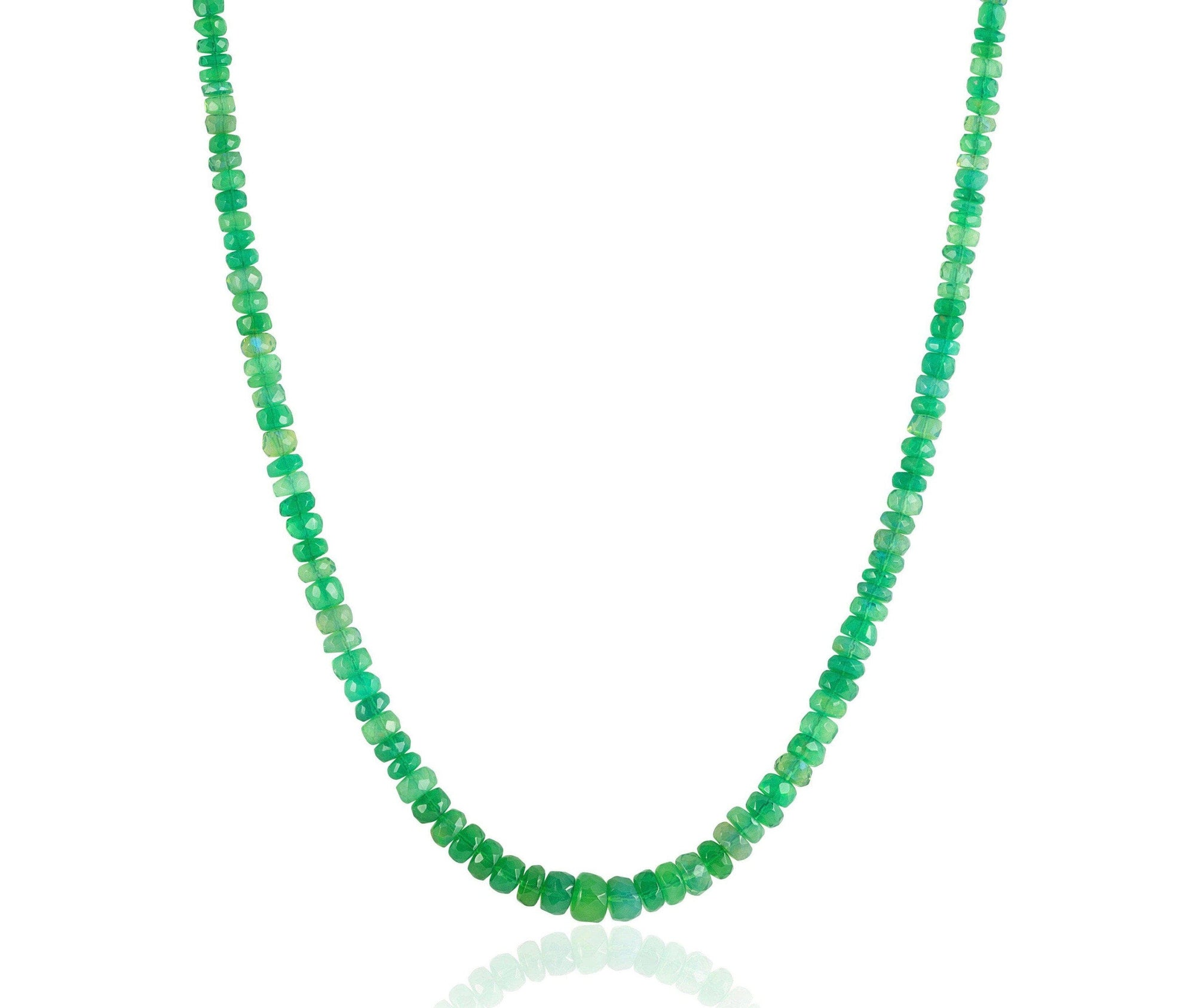 Green Ethiopian Opal Candy Necklace
