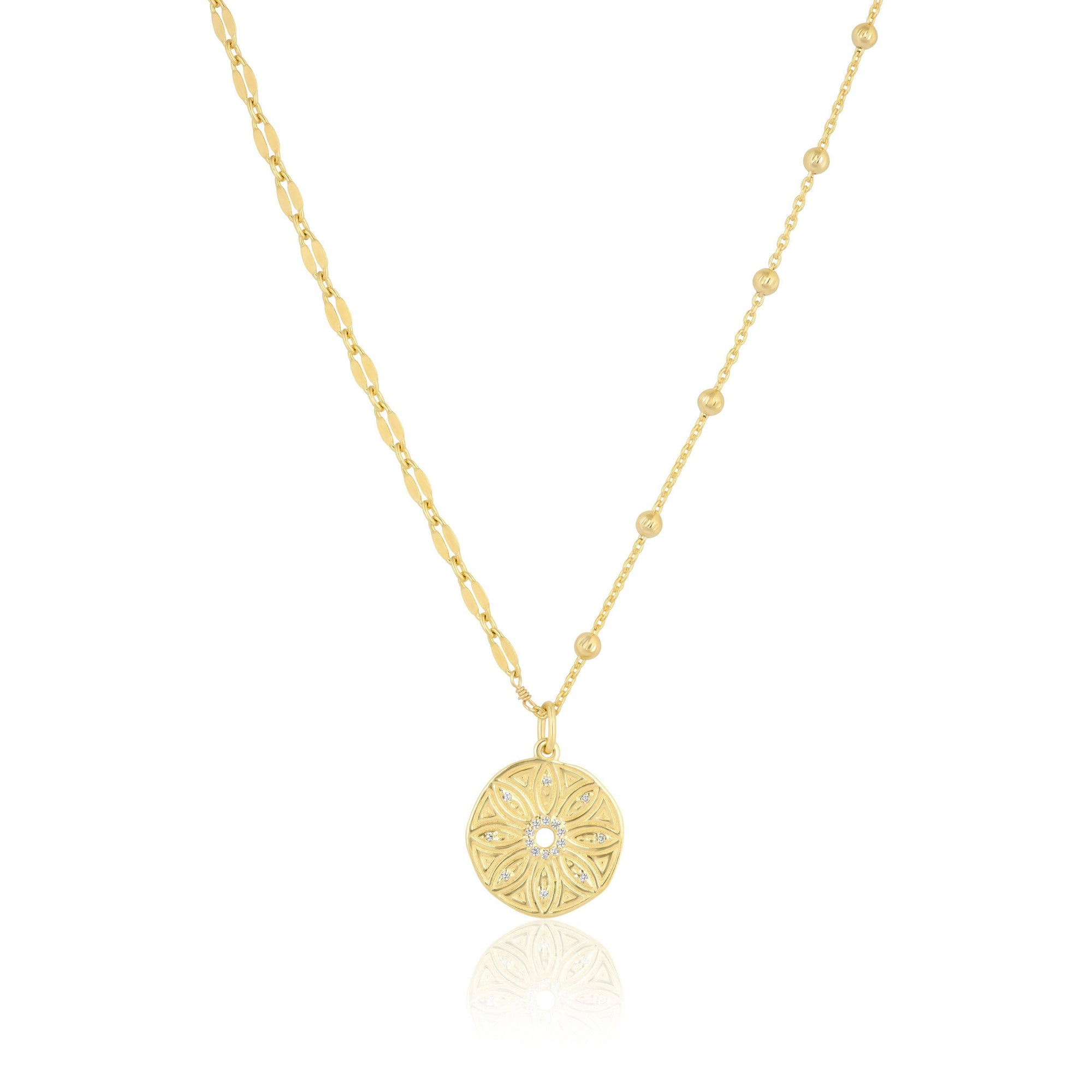 mini flower medallion | mismatch chain