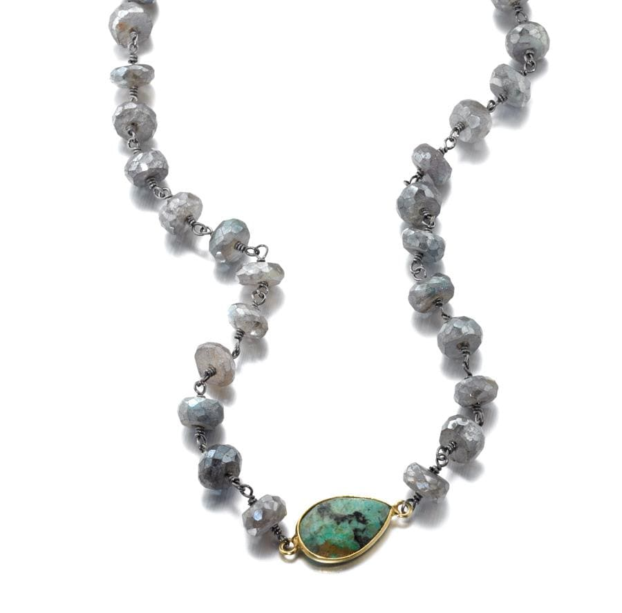 ela rae libi grand necklace labradorite emerald sterling silver