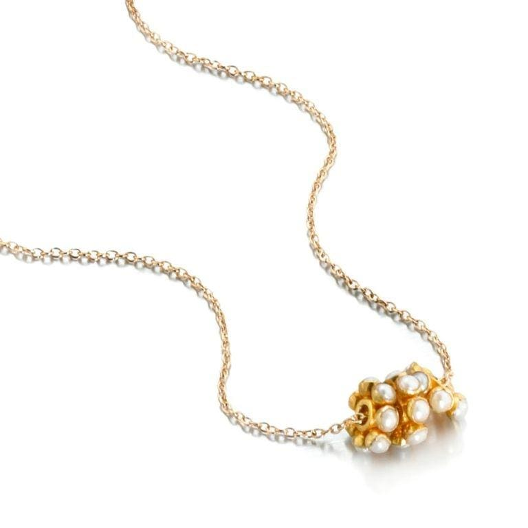 ela rae angie stone trio necklace pearl 14k yellow gold
