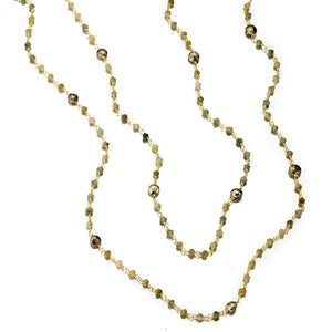 ela rae diana satellite necklace catseye pyrite 14k yellow gold plate