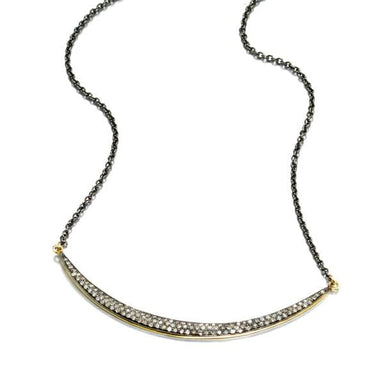 ela rae eliza necklace diamond sterling silver 14k yellow gold plate