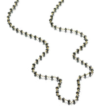 Load image into Gallery viewer, ela rae diana rondelle necklace hematite 14k yellow gold plate
