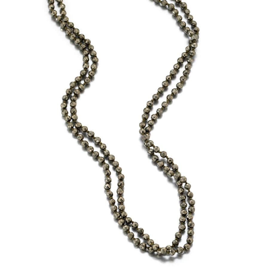 ela rae diana knots necklace pyrite silk
