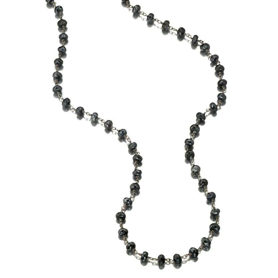 ela rae diana grand necklace mystic black spinel sterling silver