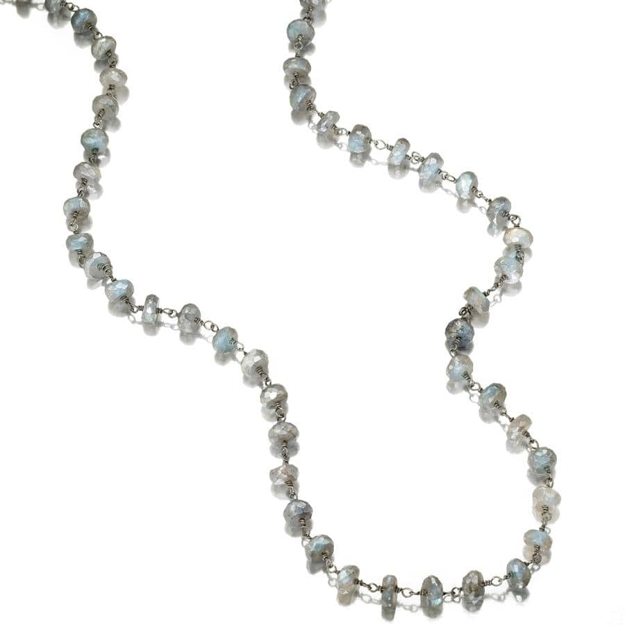 ela rae diana grand necklace labradorite sterling silver