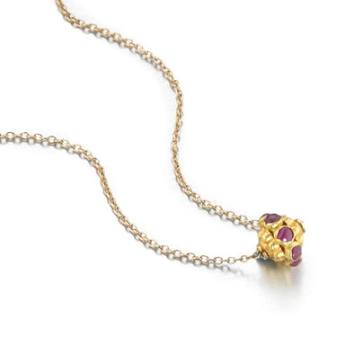 ela rae evie trinket necklace ruby 14k yellow gold