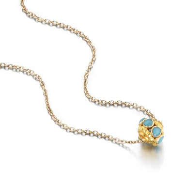 ela rae evie trinket necklace turquoise 14k yellow gold