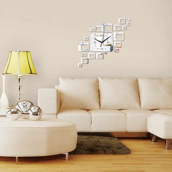 DIY Squares Acrylic Wall Clock