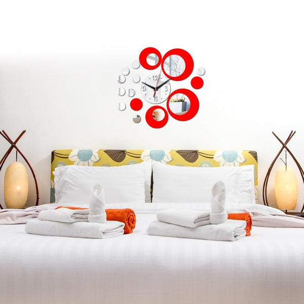 Flower Acrylic Wall Clock