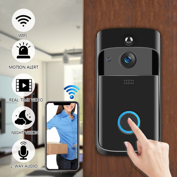 Wireless WiFi Video Doorbell with Smartphone Remote Camera
