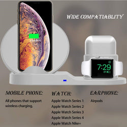 3in1 Qi Wireless Charger Dock Station