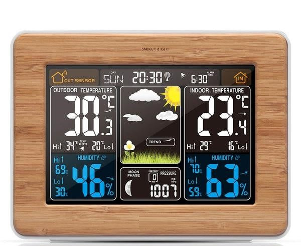 Weather Station Color Digital Alarm Desk Clock