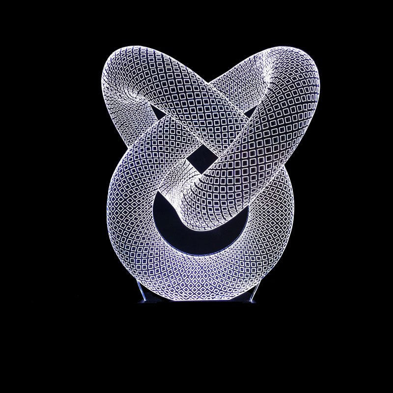 Circle Spiral LED Decoration Lamp