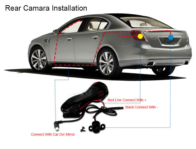 Car Dvr FHD 1080P Dash Camera with Rear View Mirror