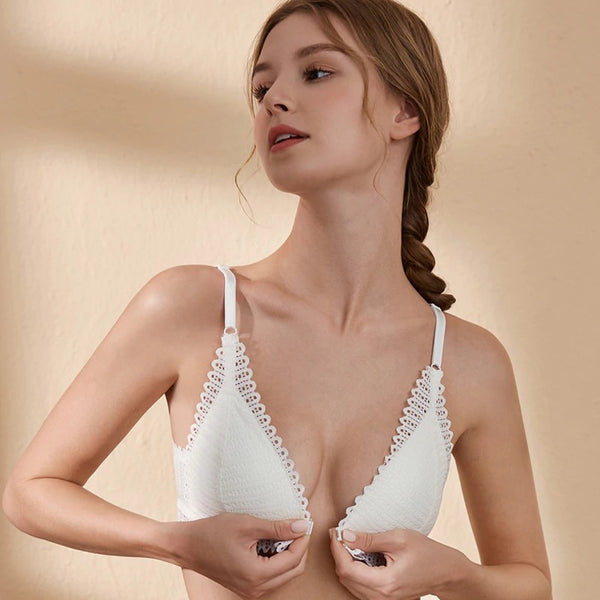 Sexy Lace Wireless Front Closure Bra