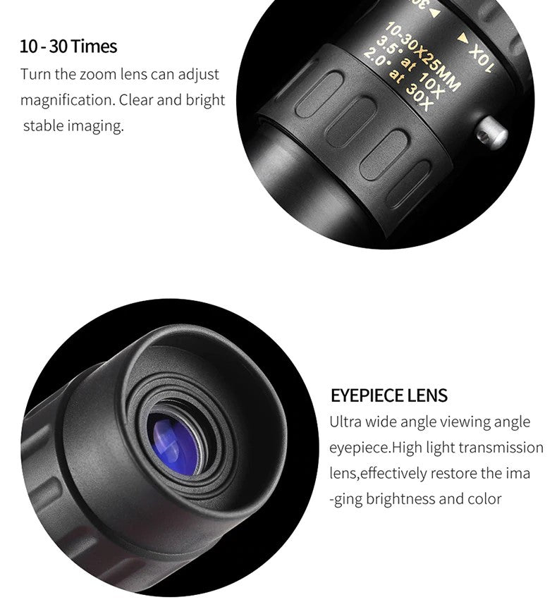 Best-Value 10-30x25 Zoom Monocular Telescope