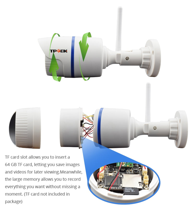 Waterproof  HD Outdoor WiFi Surveillance Camera