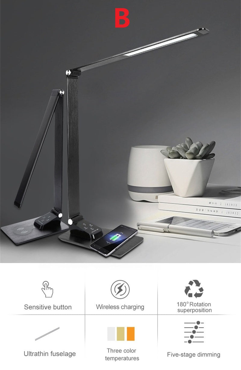 Dimmable LED Desk Clock & Lamp