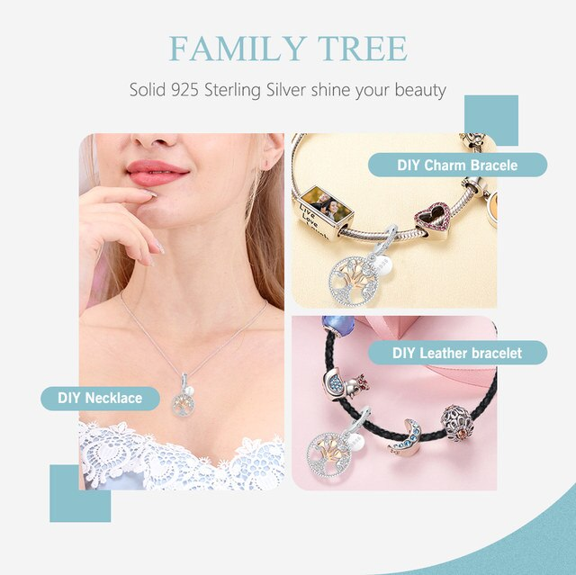 Authentic Heart Family Tree Bracelets