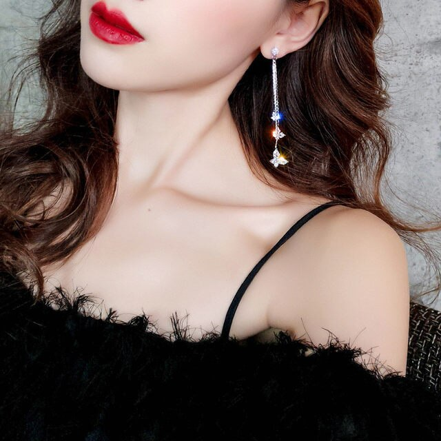 Stunning Butterfly Tassel Earrings
