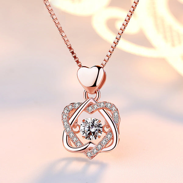ROMANTIC DOUBLE HEART NECKLACES